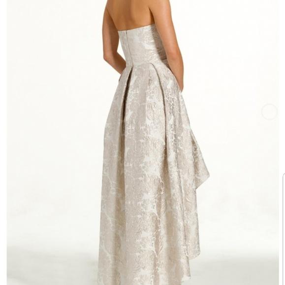 Camille La Vie Dresses | Strapless Brocade High Low Dress Cream Color |  Poshmark